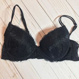 Rampage Intimates Black Lace Bra 36B